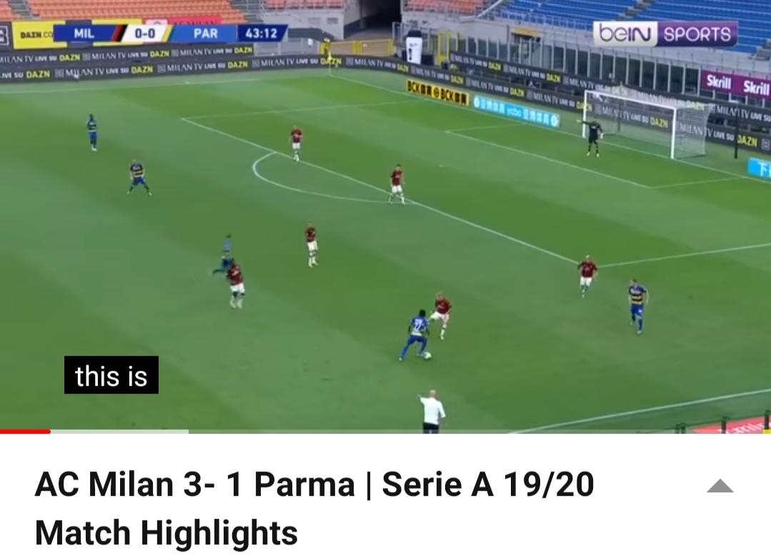 Ac Milan Kembali melakukan Comeback tumbangkan Parma 3-1