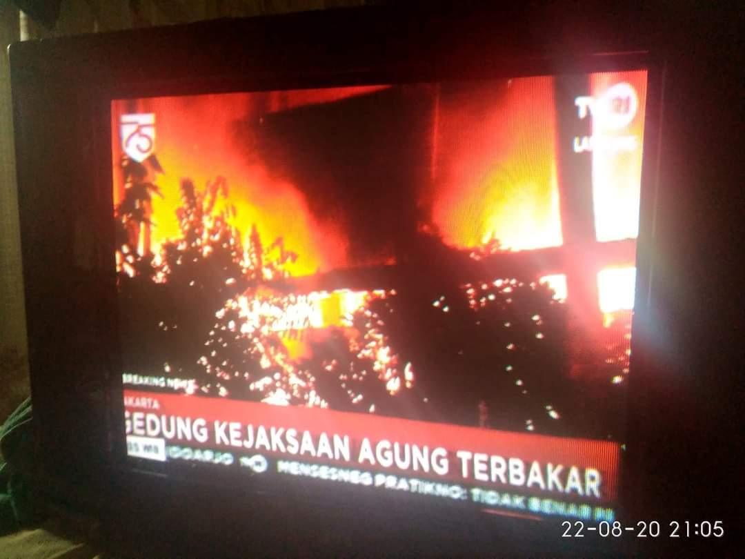 Gedung Kejaksaan Agung kebakaran Sabtu 22 Agustus 2020