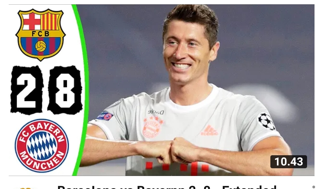 Bayern Munchen Pecundangi Barcelona 8-2