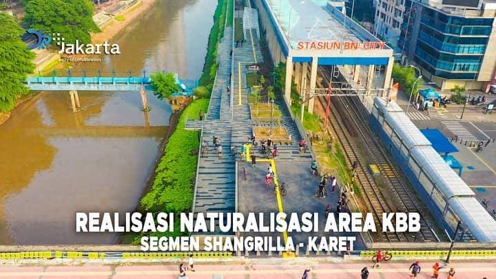 Naturalisasi oleh Dinas Sumber Daya Air Prov. DKI Jakarta