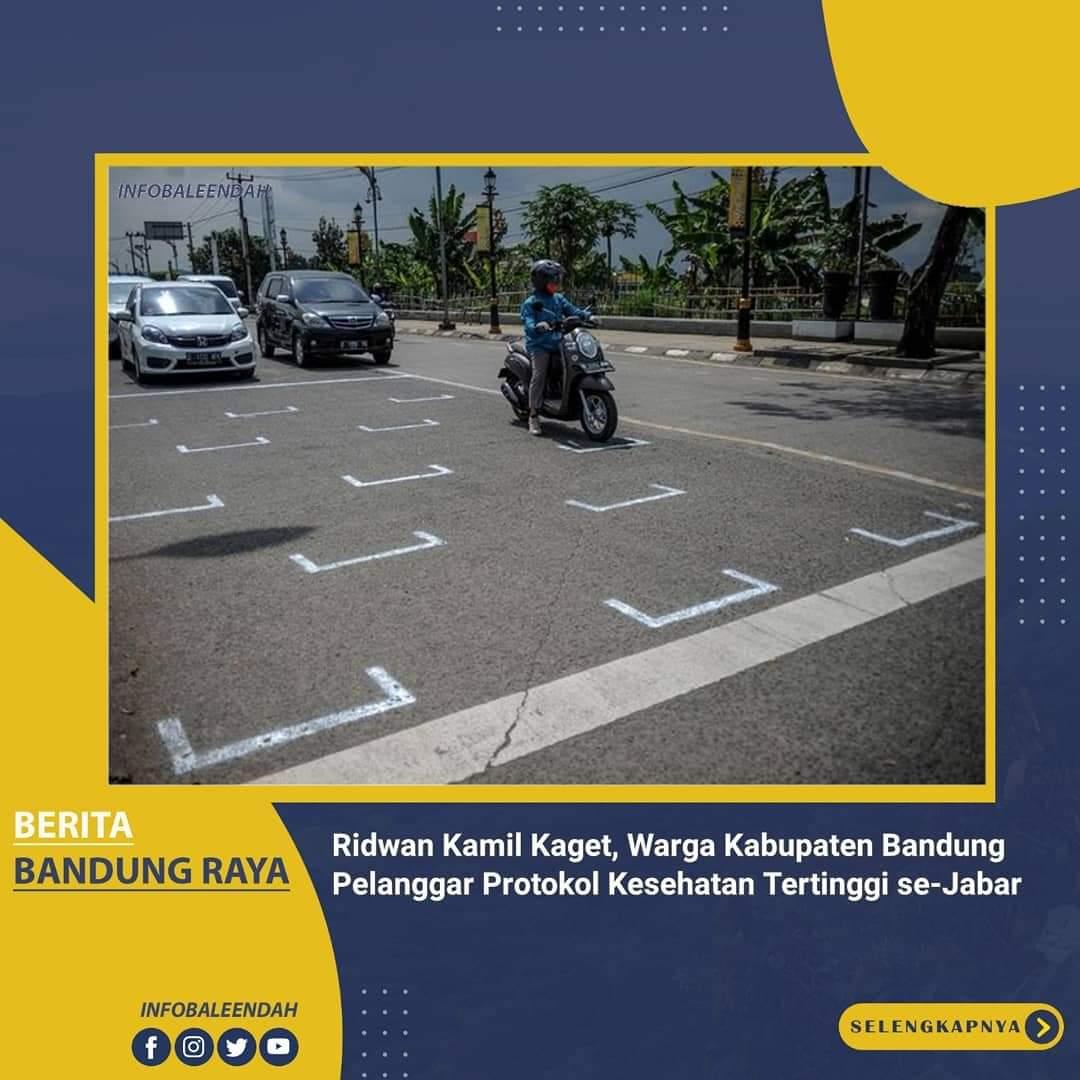 Kab.Bandung mendominasi pelanggaran disiplin protokol kesehatan di Jawa Barat