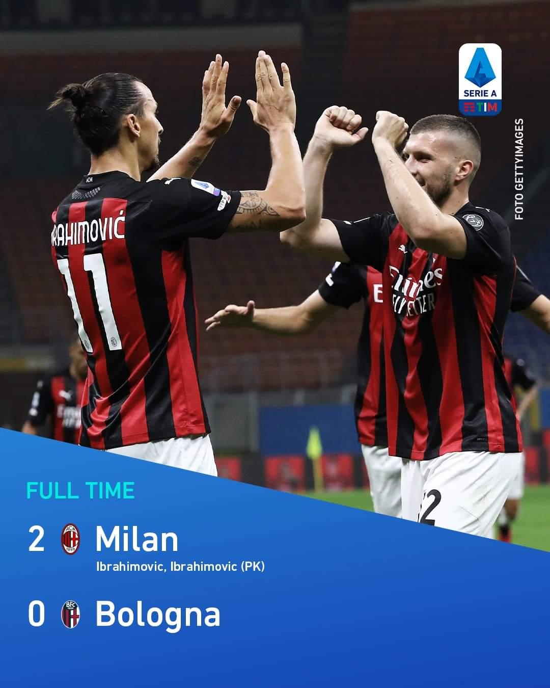Milan Menang atas Bologna 2-0