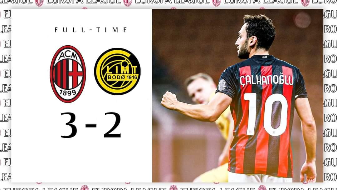 Milan menyudahi laga dengan kemenangan atas Glimt