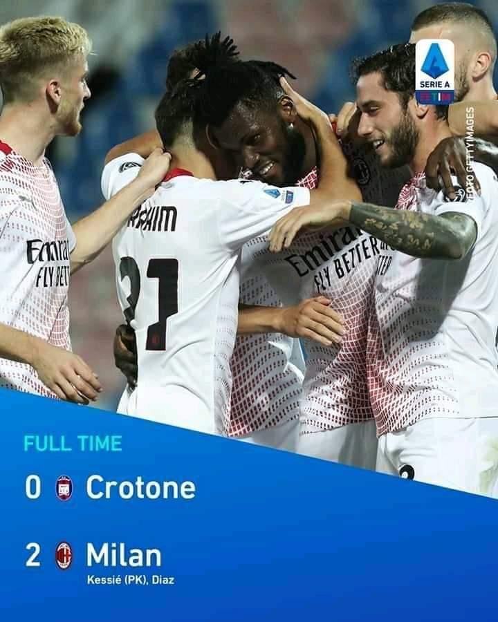Ac Milan kembali Menang atas Tuan rumah Crotone 0-2
