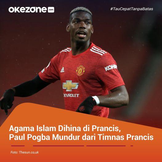 Gelandang Manchester United, Paul Pogba, dilaporkan mundur dari Tim Nasional (Timnas) Prancis