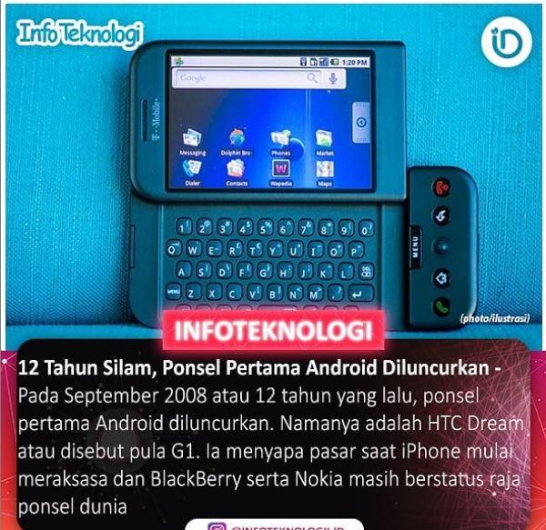 HTC Dream Ponsel Pertama Android di luncurkan