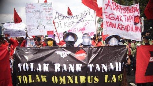 Mahasiswa Serukan #MosiTidakPercaya Sebagai Aksi Penolakan Omnibus Law