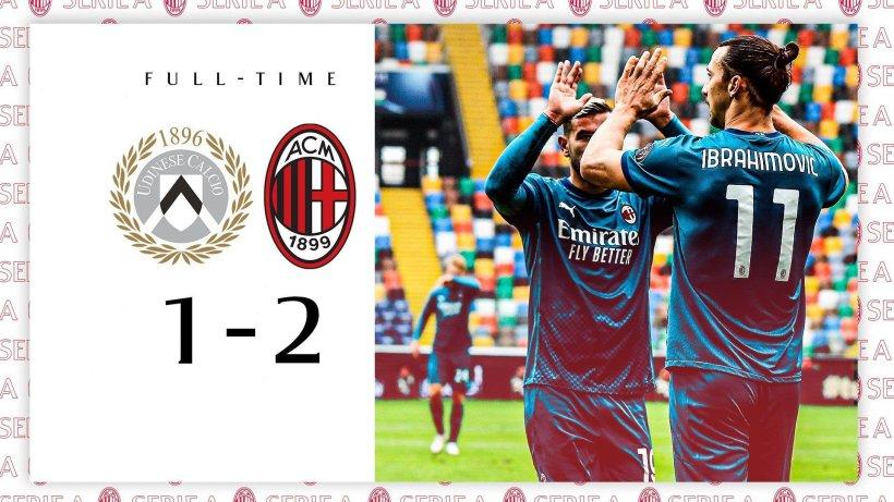 AC Milan menang Atas Tuan Rumah Udinese 1 – 2