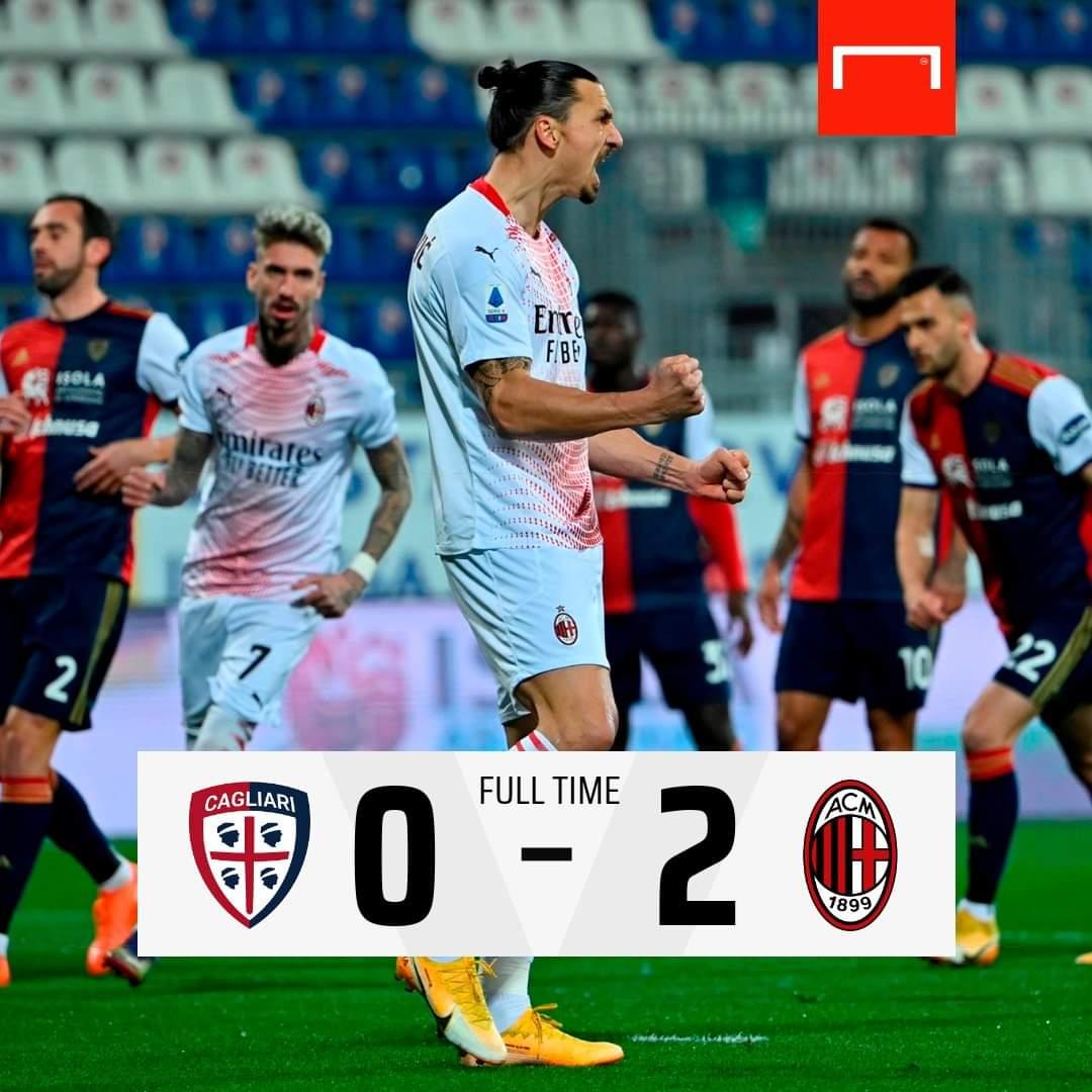 2 Goal Ibrahimovic  Bawa Milan Kembali Ke puncak