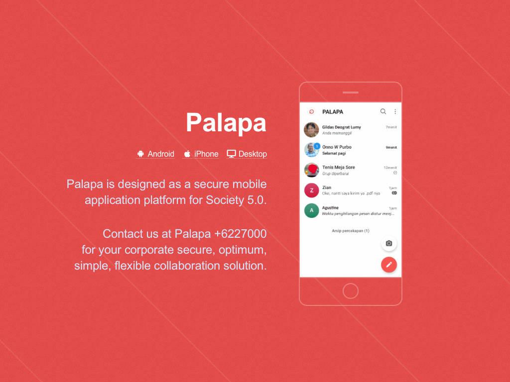 Palapa Aplikasi Percakapan Lokal Sebagai Alternatif WhatsApp
