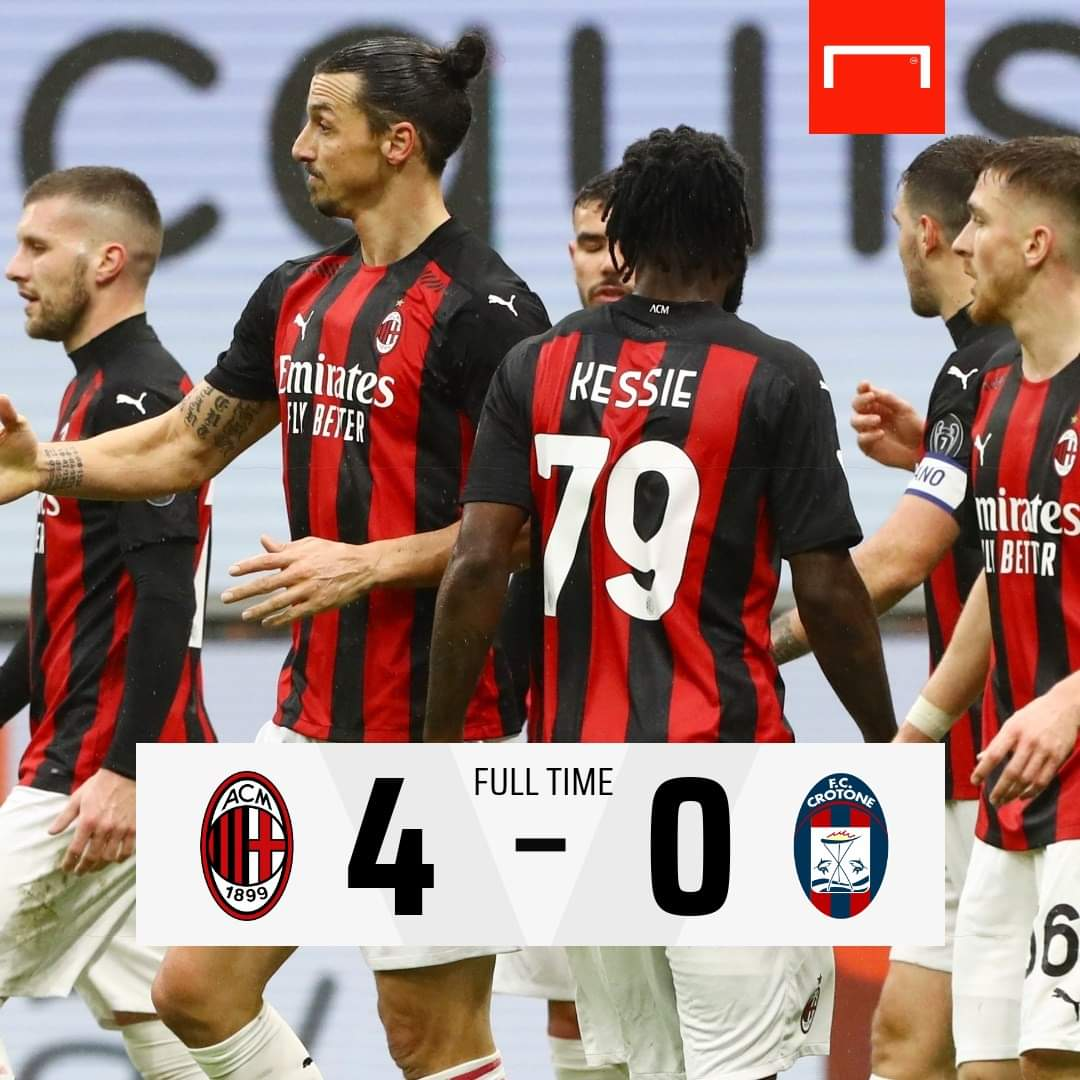 Ac Milan menang atas Crotone 4-0