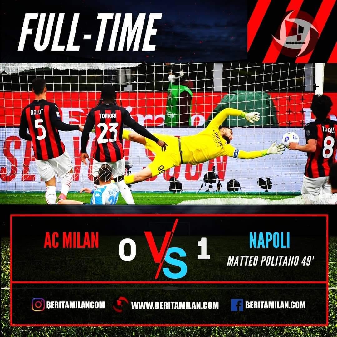 Tuan Rumah Ac Milan dipermalukan Napoli 0-1