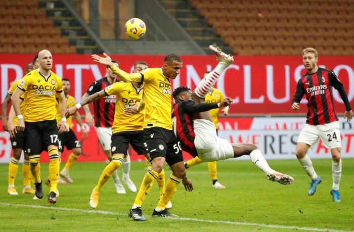 AC Milan di tahan Imbang oleh Udinese 1-1