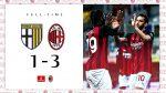 Milan berhasil meraih poin penuh atas tuan rumah Parma 1-3 lewat gol Rebic, Kessie, dan Leao
