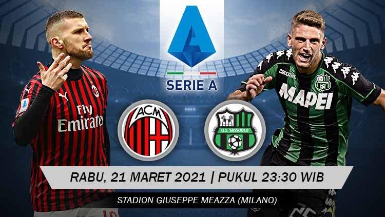 Live Streaming AC Milan VS Sassuolo | 21 April 2021