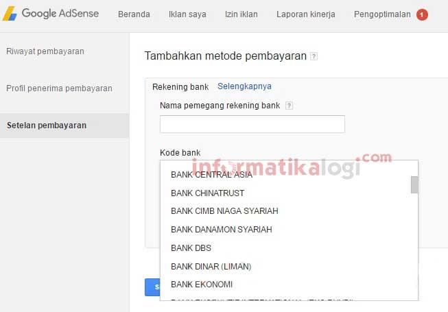 Cara Mencairkan Pendapatan Google Adsense ke Rekening Bank Lokal / Wire Transfer