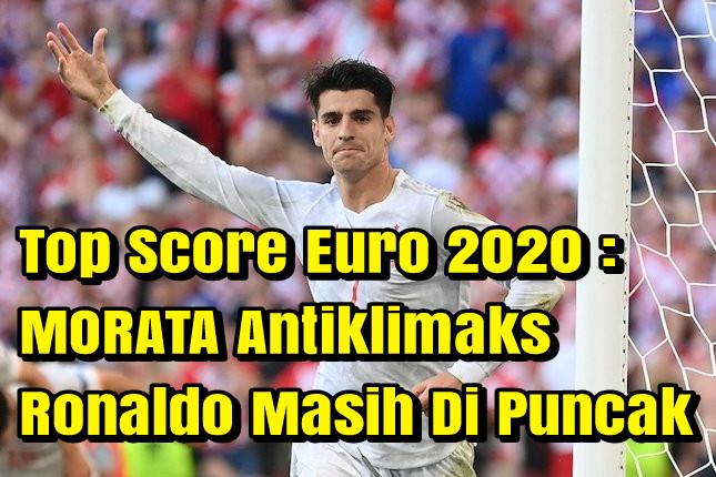 Top Skor Euro 2020 – Morata Antiklimaks, Ronaldo Masih di Puncak