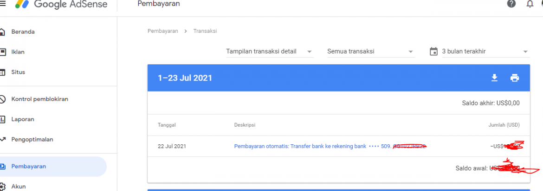 Alhamdulillah – Gajian Ke-dua Google Adsense saya cair,  Semangat bikin KOnten