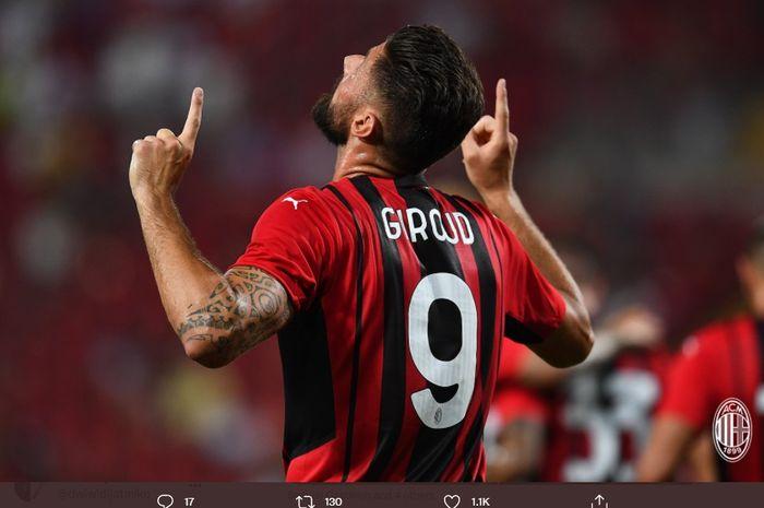 Cetak 3 Gol Tiap 70 Menit, Kutukan Nomor 9 AC Milan Musnah di Tangan Olivier Giroud