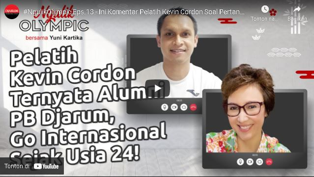 Berikut wawancara Pelatih Kevin Cordon – Muamar Qadafi (Alumni PB DJARUM) Awal melatih Kevin Cordon