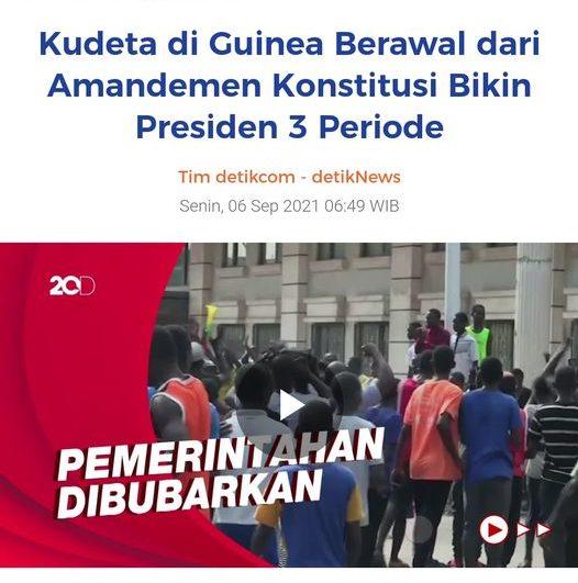 Kudeta di Guinea Berawal dari Amandemen Konstitusi Bikin Presiden 3 Periode