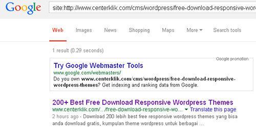 Cara Memeriksa Artikel Terindeks di Google dan Bing