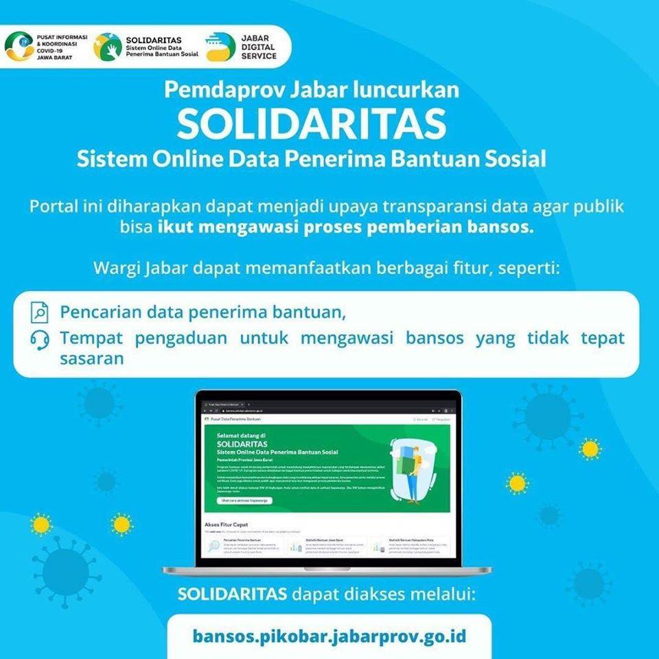 Pemda Provinsi Jawa Barat Luncurkan SOLIDARITAS – Sistem Online Data Penerima Bantuan Sosial