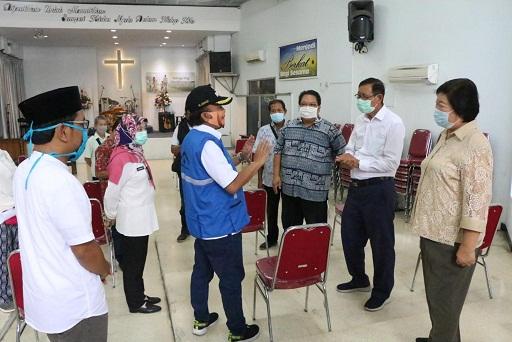 Sejumlah Tempat Ibadah Ditinjau, Memastikan Menerapkan Protokol Kesehatan