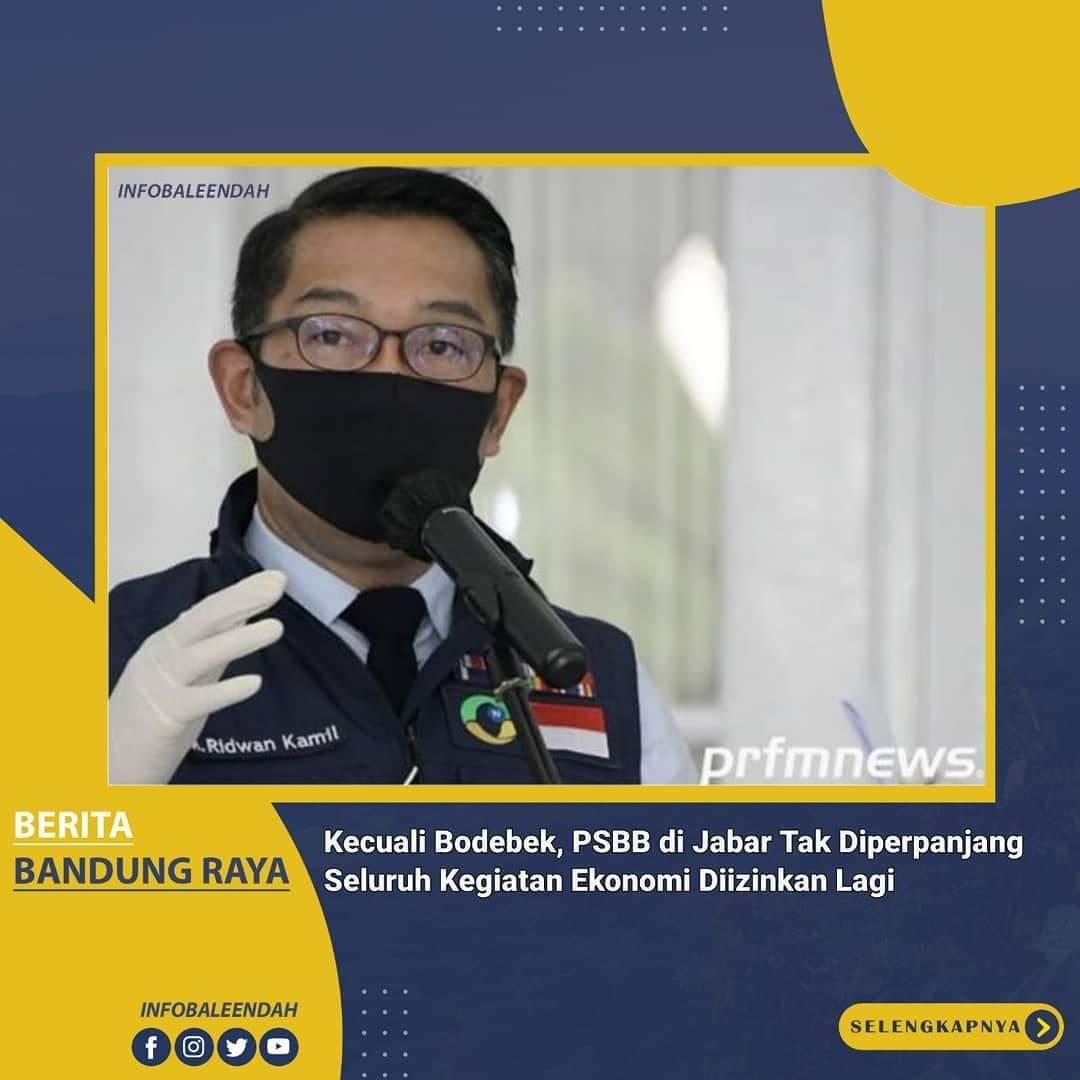 Tidak akan Ada lagi PSBB di Provinsi Jawa Barat