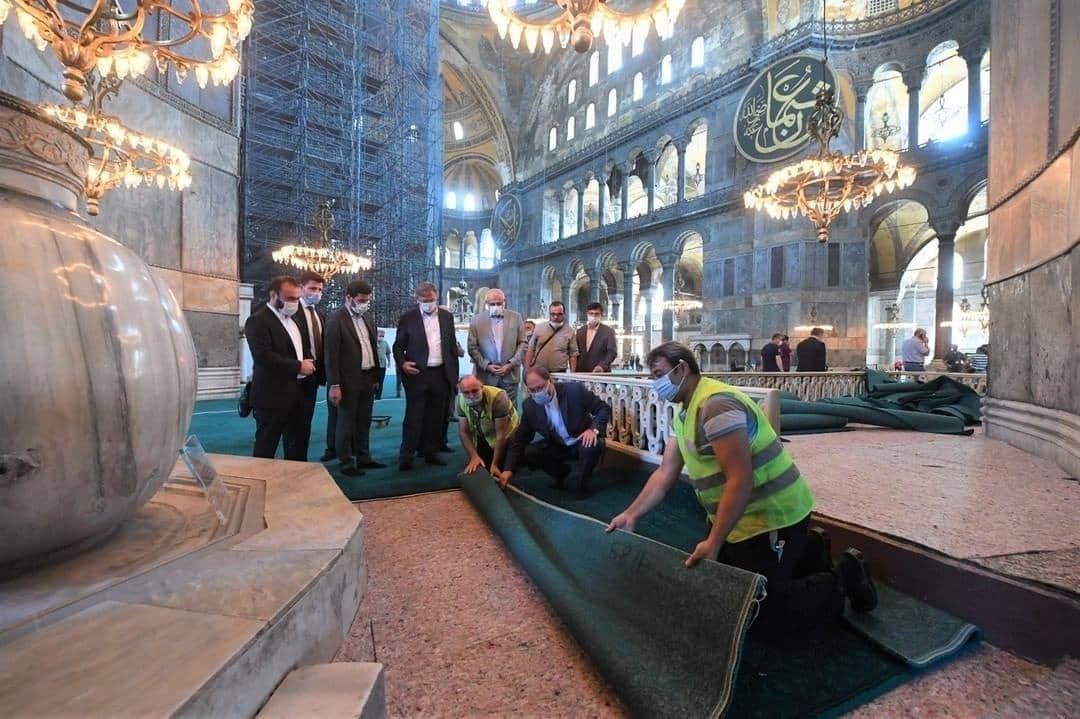 Persiapan Sholat Jum'at pertama di Masjid Aya Sofia (Hagia Sofia)