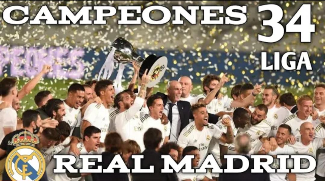 Selebrasi Real Madrid Juara La Liga 2019/2020