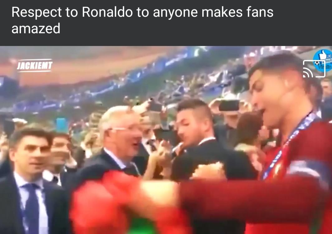 Moment Ronaldo membuat Fans Terharu