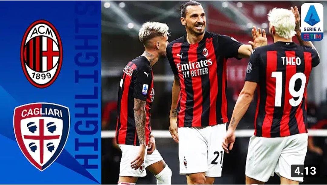Milan menang 3 – 0 lawan Cagliari pada pertandingan terakhir Serie A Liga Italia