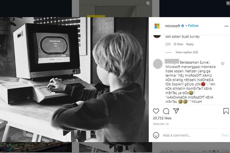 Akun Instagram Microsoft Tutup Kolom Komentar Setelah Diserbu Warganet Indonesia