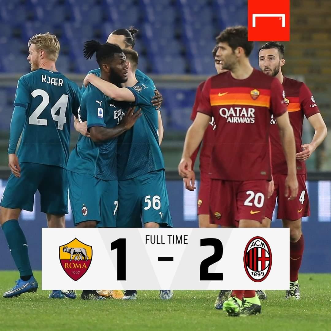 Ac Milan sukses kalahkan tuan rumah As Roma 1-2