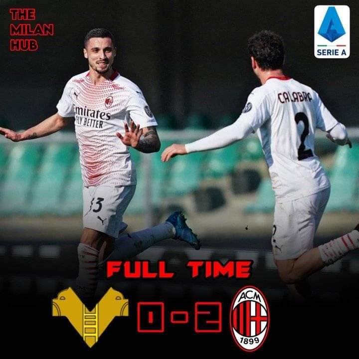 Ac Milan Menang 0-2 atas tuan rumah Helas Verona
