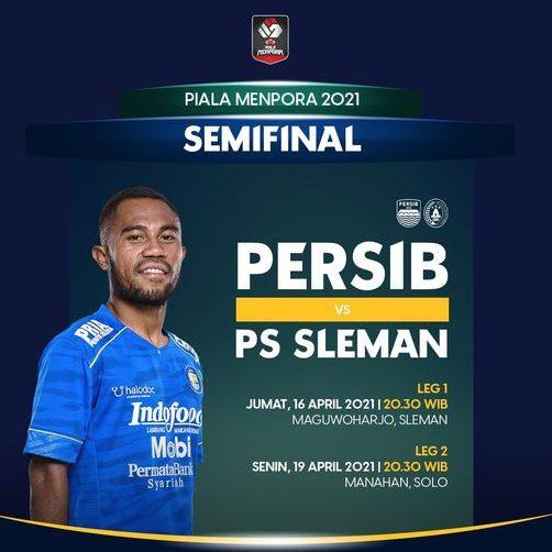 Jadwal Semifinal Piala Menpora 2021: Persib vs PSS Sleman