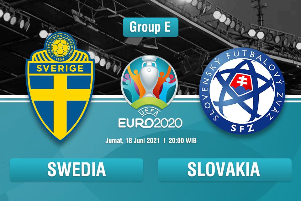 LIVE Euro2020 | Swedia vs Slovakia -Jumat 18 Juni 2021