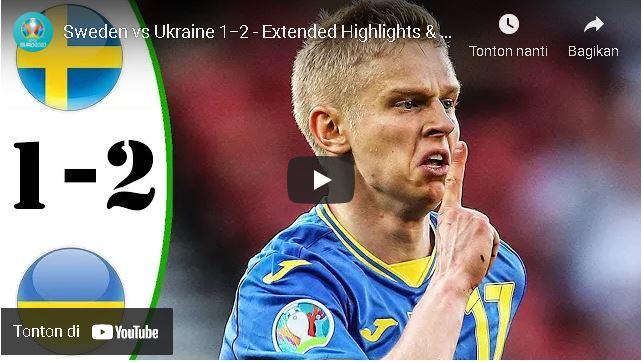 cuplikan : Sweden vs Ukraine 1−2 – Extеndеd Hіghlіghts & All Gоals 2021 HD