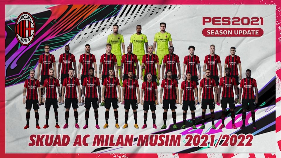 OFFICIAL PARA PEMAIN AC MILAN MUSIM 2021/2022