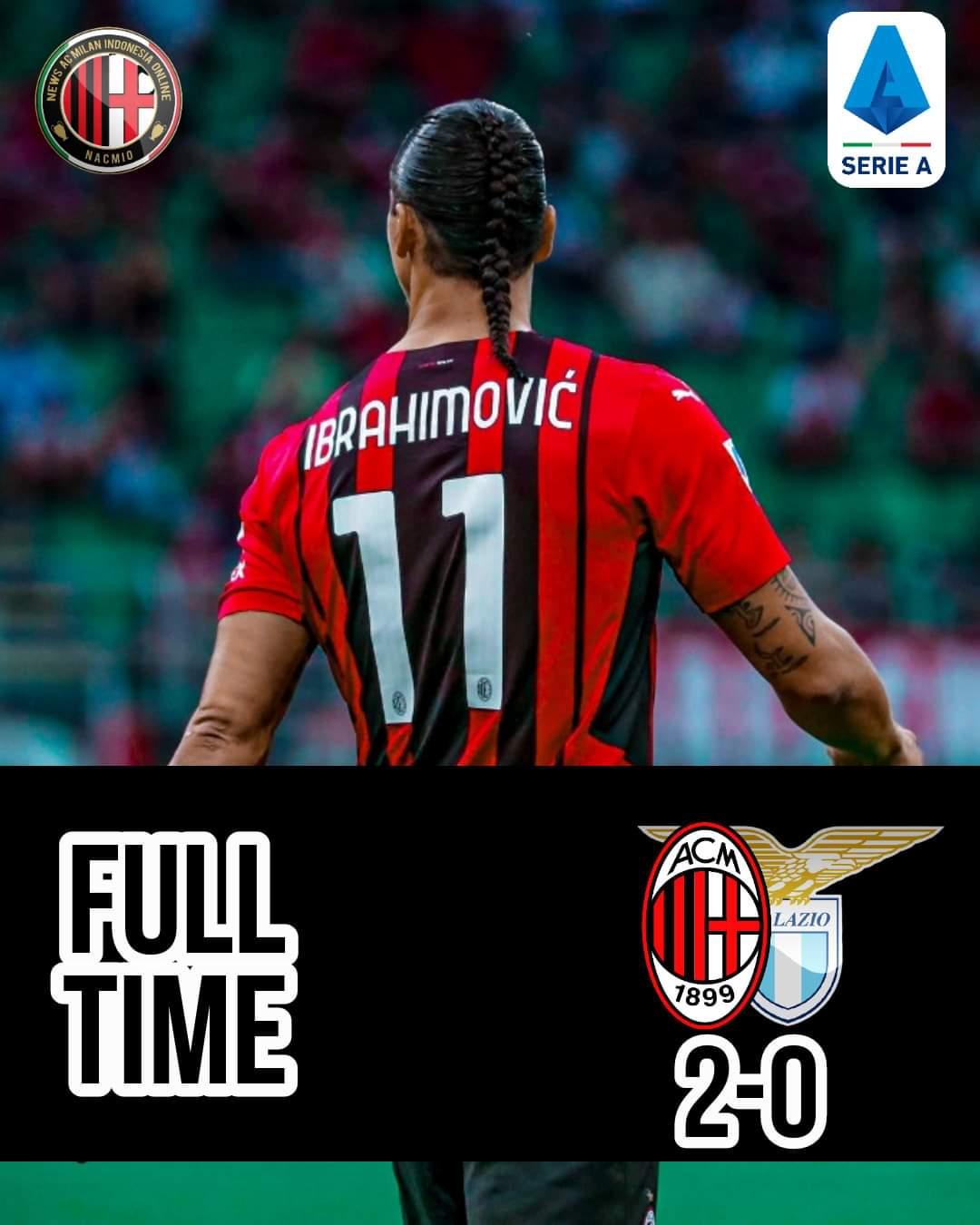 AC Milan kembali berhasil meraih poin penuh dalam partai berat melawan Lazio. Menang  2- 0